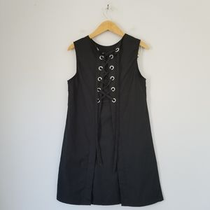 Theory Keshelle Cotton Stretch Lace Up Dress